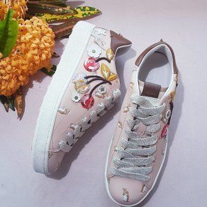 COACH C101 CHERRY PATCHES PLATFORM SNEAKERS 10